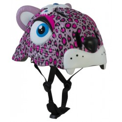 Crazy Safety Helmet Model Pink Leopard for children. One size
