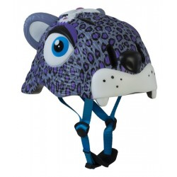 Casco Crazy Safety Modelo Purple Leopard infantil. Talla única