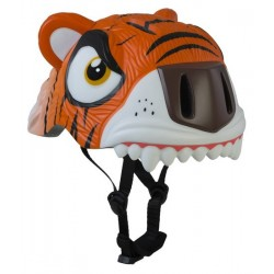 Crazy Safety Helmet Model Orange Tiger child. One size