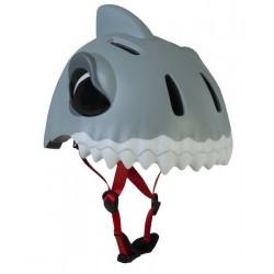 Crazy Safety Helmet Model White Shark for children. One size